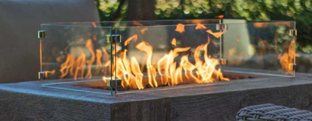 The Outdoor Plus Glass Wind Guard - The Fire Pit Collection