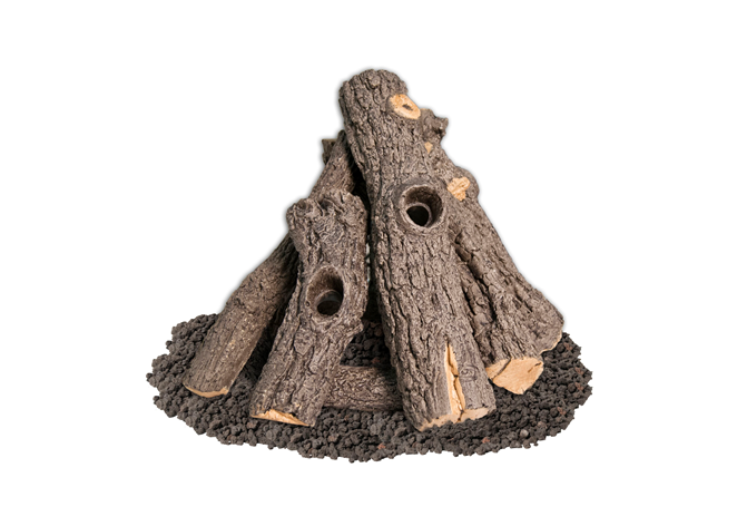 American Fyre Designs Prairie Oak Log Set - The Fire Pit Collection