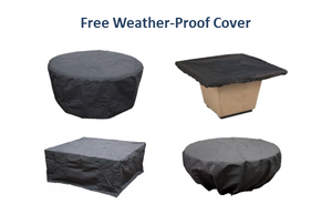 "American Fyre Designs 24"" Marseille Fire Bowl + Free Cover - The Fire Pit Collection"