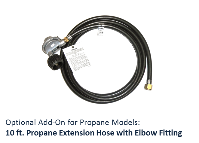 American Fyre Designs 10 ft Propane Extension Hose with Elbow Fitting - The Fire Pit Collection
