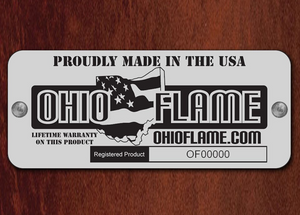 Ohio Flame Liberty Fire Pit with Angular Base - The Fire Pit Collection