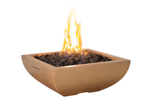 American Fyre Designs Bordeaux Petit Square Fire Bowl + Free Cover - The Fire Pit Collection