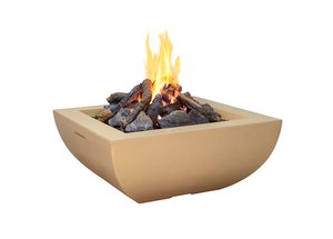 American Fyre Designs Bordeaux Square Fire Bowl + Free Cover - The Fire Pit Collection
