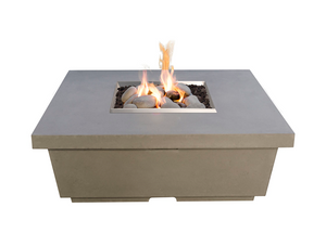 American Fyre Designs Contempo Square Firetable with Electronic Ignition + Free Cover - The Fire Pit Collection