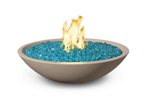 "American Fyre Designs 32"" Marseille Fire Bowl with Water Spout + Free Cover - The Fire Pit Collection"
