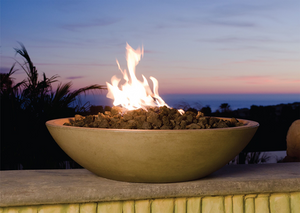 "American Fyre Designs 40"" Marseille Fire Bowl + Free Cover - The Fire Pit Collection"