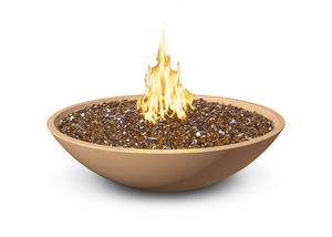 "American Fyre Designs 40"" Marseille Fire Bowl with Water Spout + Free Cover - The Fire Pit Collection"