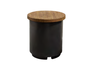 American Fyre Designs Reclaimed Wood Contempo Tank / End Table - The Fire Pit Collection