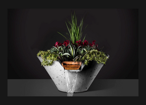 Slick Rock Concrete Cascade Conical Planter and Water Bowl