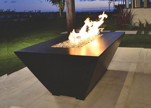 Fire by Design Geo Rectangle Fire Pit / Electronic Ignition + Free Cover