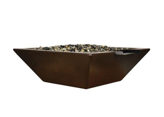 Fire by Design Geo Square Fire & Water Bowl / Electronic Ignition