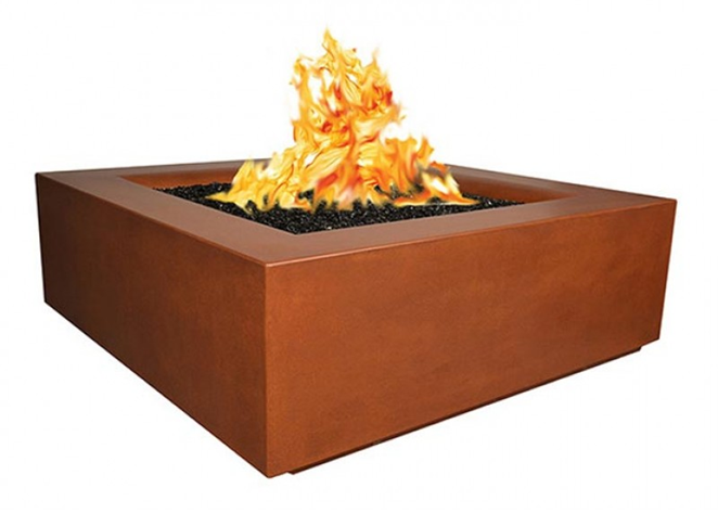 Fire by Design Aura Square Fire Table / Electronic Ignition + Free Cover - The Fire Pit Collection