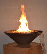 "Fire by Design Geo Round ""Essex"" Fire & Water Bowl + Free Cover - The Fire Pit Collection"