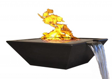 "Fire by Design Geo Square ""Essex"" Fire on Water Bowl + Free Cover - The Fire Pit Collection"