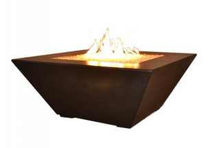 Fire by Design Geo Square Fire Table + Free Cover - The Fire Pit Collection