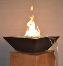 Fire by Design Geo Square Fire & Water Bowl + Free Cover - The Fire Pit Collection
