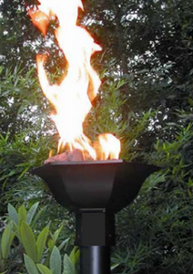 Fire by Design Gulf Automated Gas Tiki Torch + Free Cover - The Fire Pit Collection