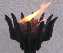 Fire by Design Malumai Automated Gas Tiki Torch + Free Cover - The Fire Pit Collection