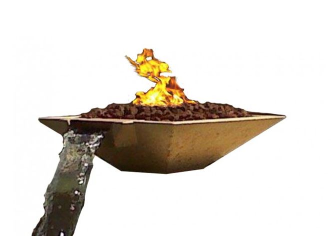 Fire by Design Oblique Scupper Fire & Water Bowl / Electronic Ignition + Free Cover - The Fire Pit Collection