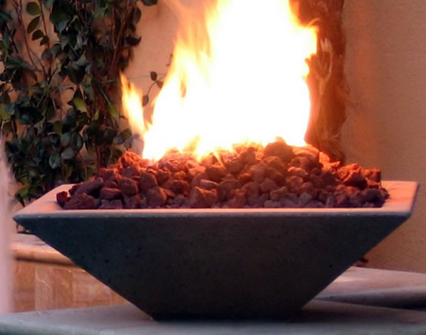Fire by Design Oblique Square Fire Bowl / Electronic Ignition  + Free Cover - The Fire Pit Collection
