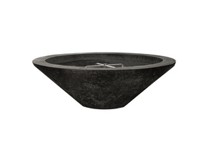 "Prism Hardscapes 31"" Embarcadero Pedestal Fire Bowl + Free Cover - The Fire Pit Collection"