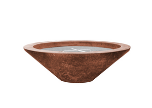 "Prism Hardscapes 31"" Embarcadero Pedestal Fire Bowl with Electronic Ignition + Free Cover - The Fire Pit Collection"