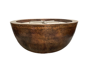 "Prism Hardscapes 39"" Moderno 1 Copper Fire Bowl with Electronic Ignition"