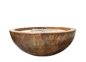 "Prism Hardscapes 48"" Moderno 4 Copper Fire Bowl with Electronic Ignition"
