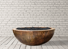 "Prism Hardscapes 48"" Moderno 4 Copper Fire Bowl with Electronic Ignition + Free Cover - ships in 4-5 weeks"
