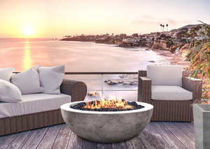"Prism Hardscapes 48"" Moderno 4 Fire Bowl + Free Cover - ships in 3-4 weeks"