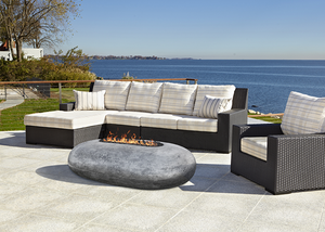 Prism Hardscapes Pebble Fire Table with Electronic Ignition + Free Cover - ships in 4-5 weeks
