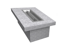 "The Outdoor Plus 84"" x 36"" x 16"" Ready-to-Finish Rectangular Gas Fire Table Kit + Free Cover - The Fire Pit Collection"