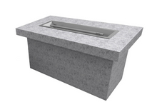 "The Outdoor Plus 96"" x 36"" x 24"" Ready-to-Finish Rectangular Gas Fire Table Kit + Free Cover - The Fire Pit Collection"