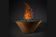 Slick Rock Concrete Ridgeline Conical Fire Bowl with Electronic Ignition + Free Cover