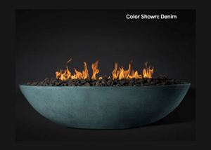 "Slick Rock Concrete Oasis 60"" Oval Fire Bowl with Match Ignition + Free Cover"