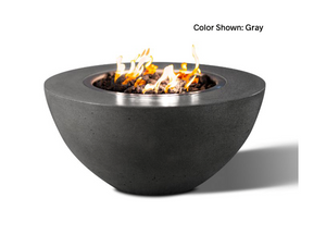 "Slick Rock Concrete Oasis 34"" Round Fire Bowl with Match Ignition"