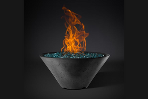 Slick Rock Concrete Ridgeline Conical Fire Bowl with Electronic Ignition