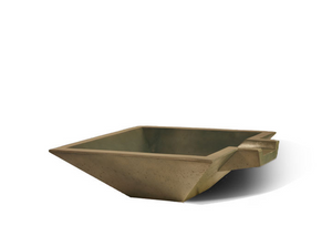 "Slick Rock Concrete Spill Square 30"" Water Bowl"