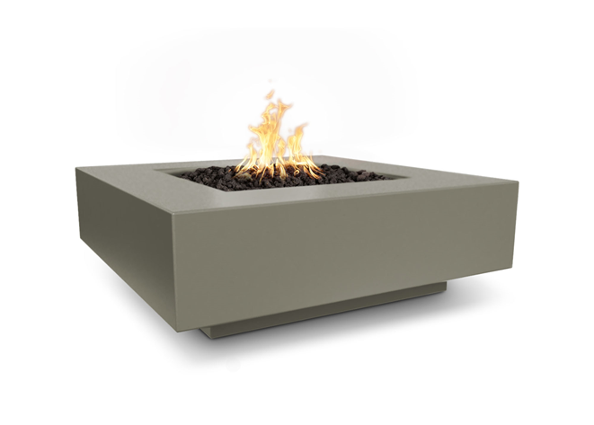 The Outdoor Plus Cabo Square Concrete Fire Pit + Free Cover - The Fire Pit Collection