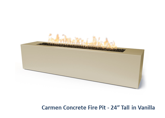 The Outdoor Plus Carmen Concrete Fire Pit + Free Cover - The Fire Pit Collection