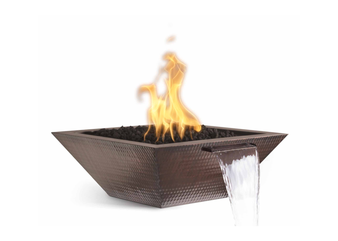 The Outdoor Plus Maya Copper Fire & Water Bowl + Free Cover