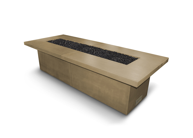 The Outdoor Plus Newport Concrete Fire Table + Free Cover - The Fire Pit Collection