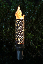 The Outdoor Plus Honeycomb Fire Torch / Stainless Steel + Free Cover - The Fire Pit Collection