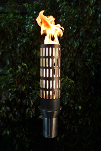 The Outdoor Plus Vent Fire Torch / Stainless Steel + Free Cover - The Fire Pit Collection