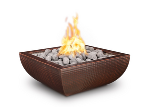 The Outdoor Plus Avalon Hammered Copper Fire Bowl + Free Cover - The Fire Pit Collection