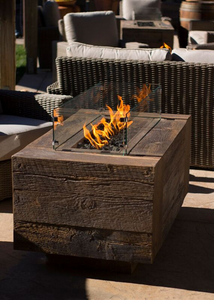 The Outdoor Plus Catalina Wood Grain Fire Pit + Free Cover - The Fire Pit Collection