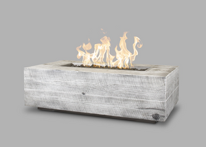 The Outdoor Plus Coronado Wood Grain Fire Pit + Free Cover - The Fire Pit Collection