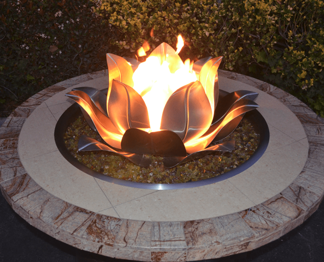 The Outdoor Plus Lotus Flower The Fire Pit Collection