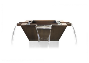 The Outdoor Plus Maya 4-Way Copper Fire & Water Bowl + Free Cover - The Fire Pit Collection