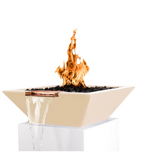 The Outdoor Plus Maya Concrete Fire & Water Bowl + Free Cover - The Fire Pit Collection